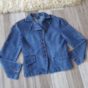MixIt Stretchy Denim Blazer Jacket